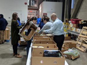 Kate Connolly MBA Volunteers at the Greater Boston Food Bank