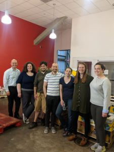 Kate Connolly Volunteering at the Greater Boston Food Bank with the MBA